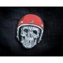 BIKER SKULL Patch, de los muertos style, ca. 95mm iron on sew on