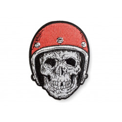Iron on biker patch skull