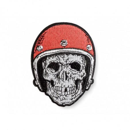 Iron on biker patch skull