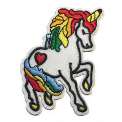 Unicorn patch No.2, iron on sew on applique