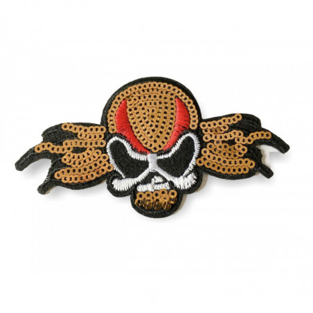 LUCHA LIBRE biker patch ca.100mm,iron on /sew on, sequined