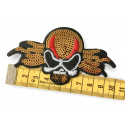 LUCHA LIBRE sequin patch, lipstick design, ca.100mm on /sew on