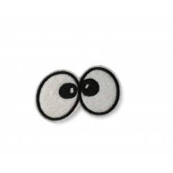 Boss-eyed fashion patch, iron on sew on patch, ca.60mm