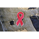 Rosa Brustkrebs Solidaritäts Schleife, Bügelbild ca.50mm, Patch