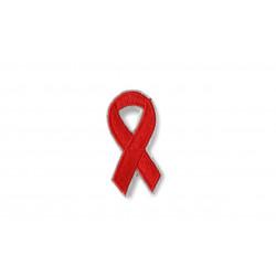 Rote HIV Solidaritäts-Schleife, Aufnäher ca.50mm