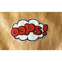 OOPS! Stick-Patch, roter Aufbügler ca.80mm, Bügelbild