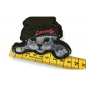 Hipster Katze, Cat Patch m.Pailletten, Bügelbild ca.85mm
