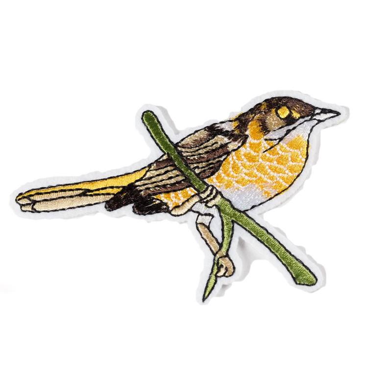 Bird Patch SPATZ, Aufbügler, Bügelbild, ca. 90mm