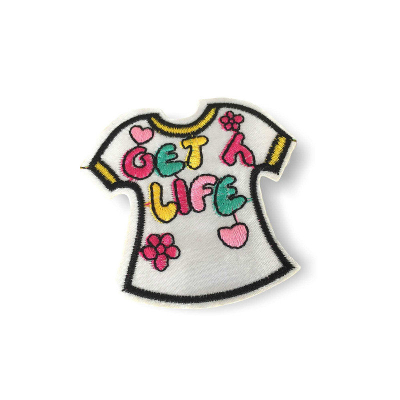 Street patch GET LIFE, iron on ca.70mm