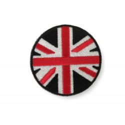 Länder Patch Union Jack, ca.70mm Bügelbild, Aufbügler