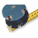 Dekor Flicken zum Aufbügeln, 2st., ca.70mm, Jeans Style