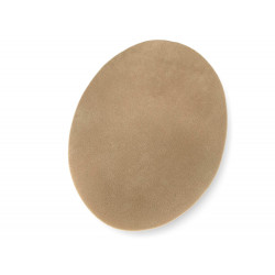 Two oval iron on patches, beige