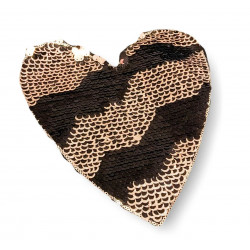 Reversible sequins applique GLAM HEART