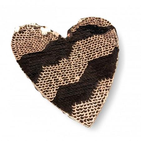 Reversible sequins applique GLAM HEART