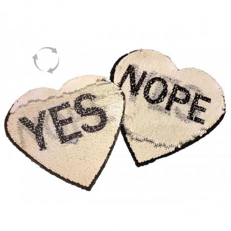 Wechsel Pailletten Applikation, YES/NOPE