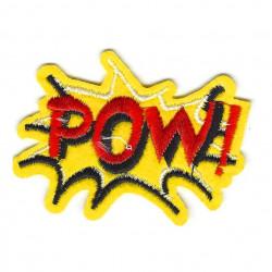 Patch POW!, gelb/rot, Aufbügler, ca. 70mm