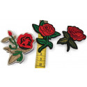 3 Rosen-Patches, Mix Bügelbilder ca.60-70mm