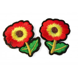 Zwo charming flower patches, approx.45mm