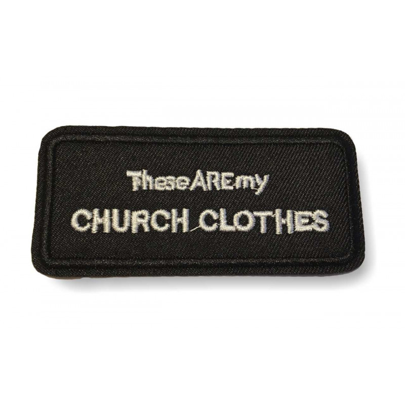 CHURCH CLOTHES, Punk statement Patch, ca.95mm