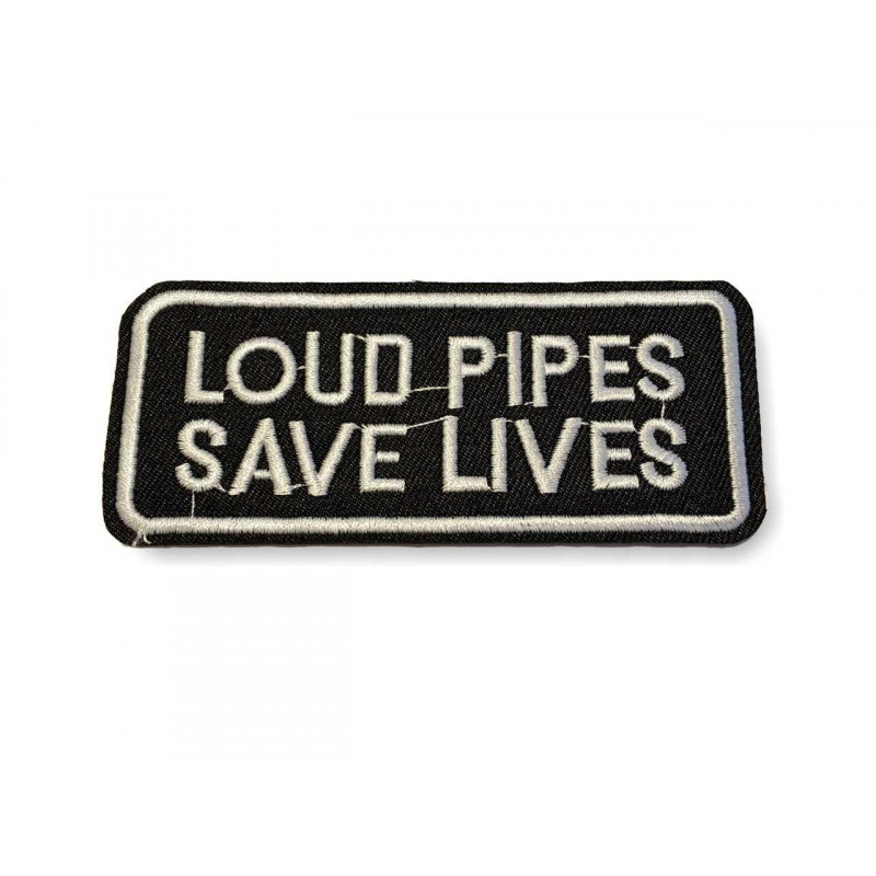 LOUD PIPES, Punk statement Patch, ca.95mm