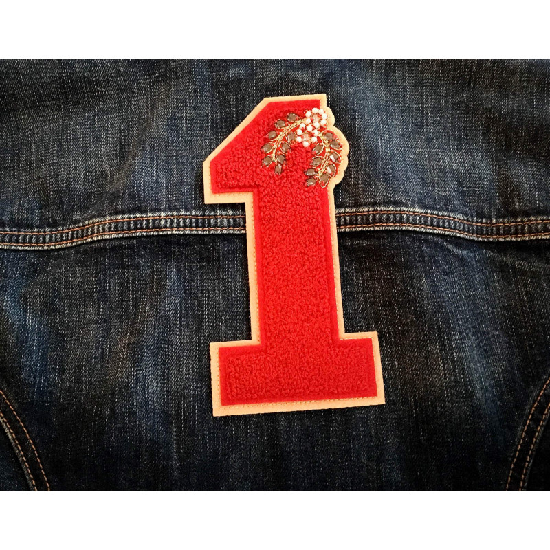 Big patch with rhinestones, No.1, sew on