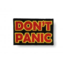 Aufnäher DON'T PANIC, Keine Panik zum aufbügeln