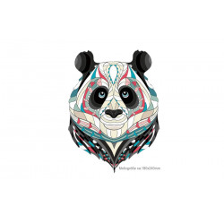 Big panda print transfer patch, heat press ironing applique