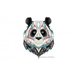 Grosses Panda Bügelbild, Print Patch zum aufbügeln