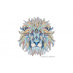 Big LION HEAD, mandala style iron on transfer applique