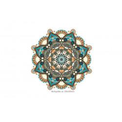 Großes Mandala Bügelbild KREIS, Print Patch zum aufbügeln