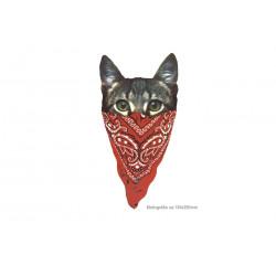 Großes Bügelbild GANGSTA CAT, Print Patch zum aufbügeln