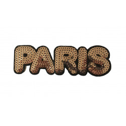 Large sequin patch PARIS, big, ca.140mm sew on/iron on