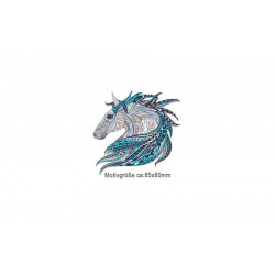 Kleines Bügelbild MANDALA HORSE, Print Patch zum aufbügeln