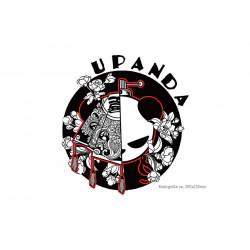 Bügelbild NIPPON PANDA, Großer Print Patch zum aufbügeln
