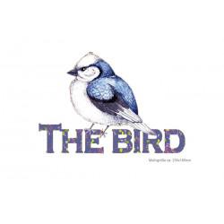 Big print patch THE BIRD, iron on transfer applique