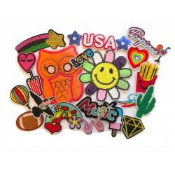 20pcs patch bomb TROPICANA LOVE, iron on patches