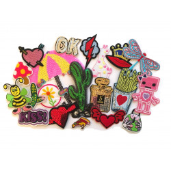 20pcs patch bomb OK, iron on patches