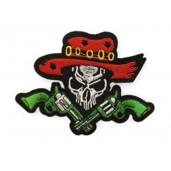 Grey skull patch, approx.100mm