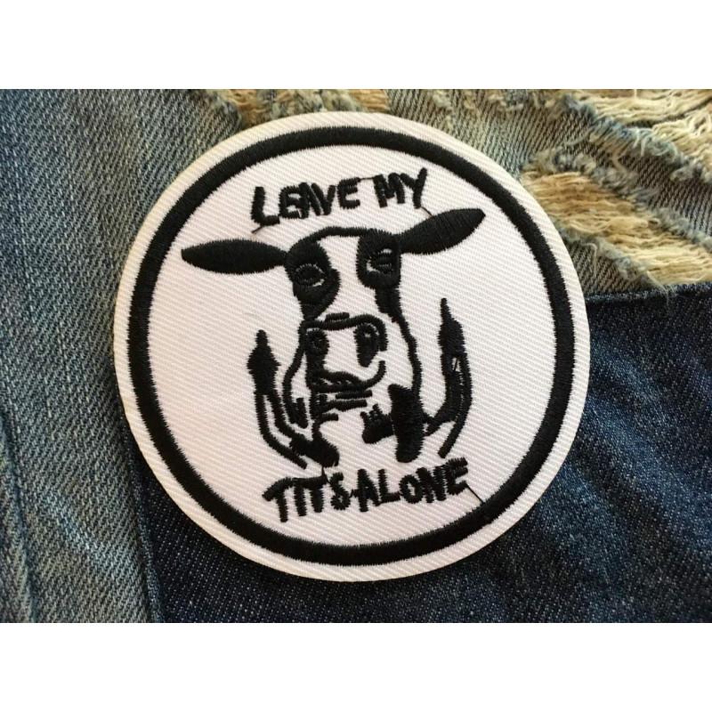 Vegan Punk Sticker Leave MY TITS alone!