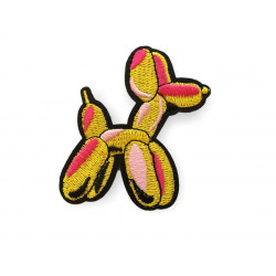 Iconic poodle Patch, yellow, ca.80mm