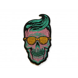 ROCKABILLY CANDY SKULL patch, approx.100mm