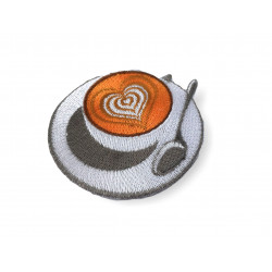 COFFEE FANATIC, iron on patch 70mm
