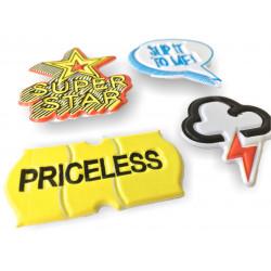 4 soft mobile sticker removable, SUPERSTAR