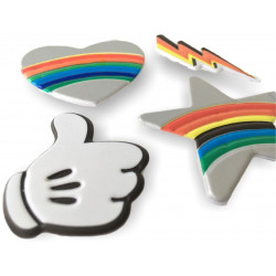 4 soft mobile sticker removable, THUMBS