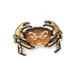 Crab applique, iron on patch ca.60mm
