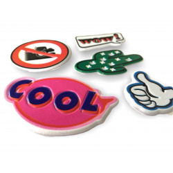 5 soft mobile sticker removable, COOL