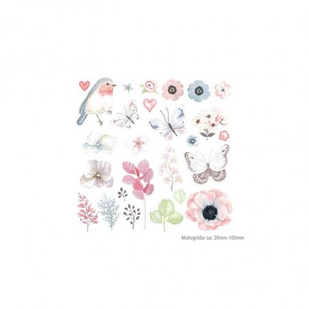 26 Poesie-Style Bügelbilder, romantische Transfer Bügelprints