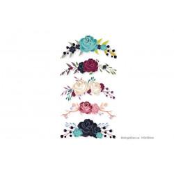 5x romantische Rosen-Ornamente Bügelprints