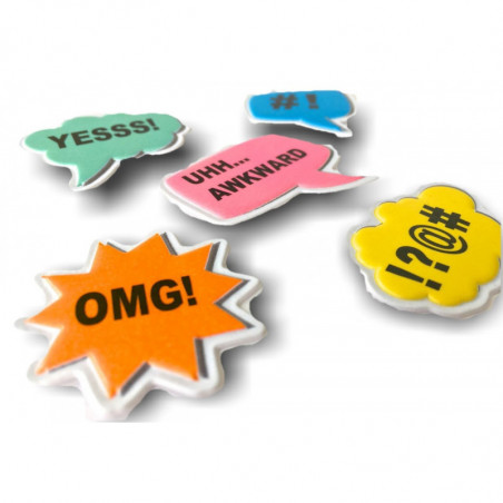 5 soft mobile sticker removable, HELLO