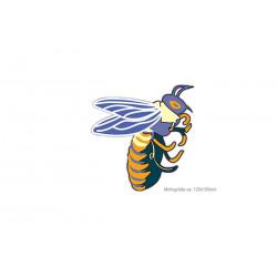 CARTOON BEE, großer Print Patch zum aufbügeln